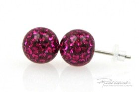 Sztyfty Crystal Gloss 10 mm, Fuchsia