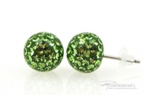 Sztyfty Crystal Gloss 10 mm, Peridot