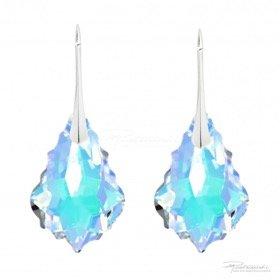 Srebrne Kolczyki Baroque 22mm Crystal AB