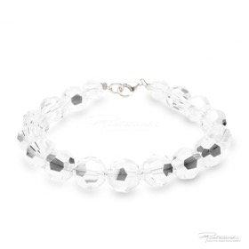 Bransoletka ze srebra i kryształów Crystal 10 mm