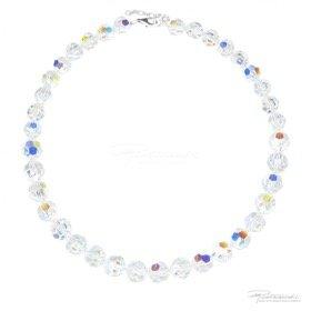 Naszyjnik z kryształów Crystal AB 10-12 mm dł. 43 cm