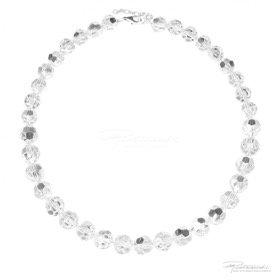Naszyjnik z kryształów Crystal 10-12 mm dł. 43 cm