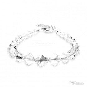 Bransoletka z kryształów Crystal  6-10mm dł. 18,5 cm