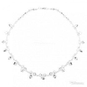 Naszyjnik pleciony z kryształów Crystal  4-8 mm