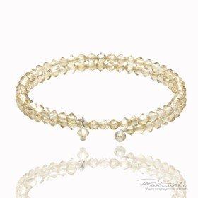 Podwójna bransoletka wykonana z kryształów Swarovskiego 4 mm w kolorze Golden Shadow