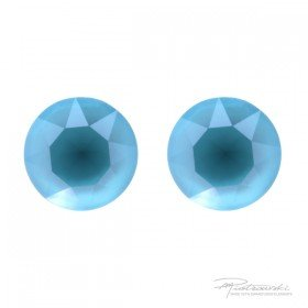 Srebrne sztyfty Azure Blue  8 mm