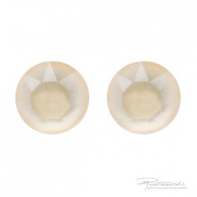 Srebrne sztyfty Ivory Cream 8 mm