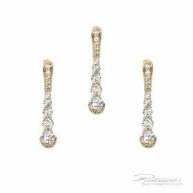 Komplet biżuterii ze stali szlachetnej z kryształami Crystal