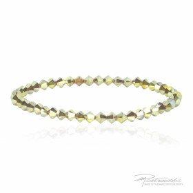 Bransoletka na gumce z kryształów Swarovskiego 4 mm Metallic Sunshine