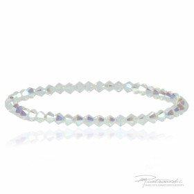 Bransoletka wykonana z kryształów Swarovskiego 4 mm w kolorze intensywny Crystal AB