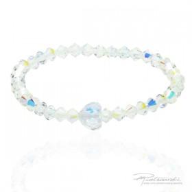 Bransoletka dla dziewczynki z delikatnych kryształków w kolorze Crystal AB