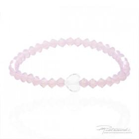 Bransoletka dla dziewczynki z delikatnych kryształków Rose Water Opal