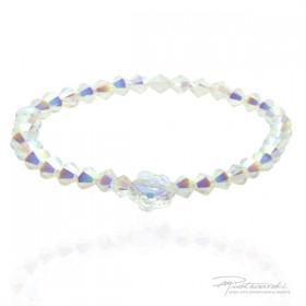 Bransoletka dla dziewczynki z delikatnych kryształków w kolorze intensywny Crystal AB