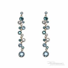 Kolczyki ze Stali Szlachetnej z kryształami, długość 7,5 cm