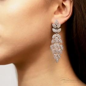 Kolczyki ze stali szlachetnej w kolorze srebrnym z kryształkami Crystal